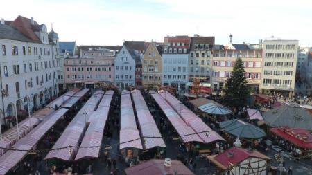 Christkindelmarkt von oben