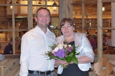 Hotelier Christian Förch mit Zimmerdame Vera Michailuk