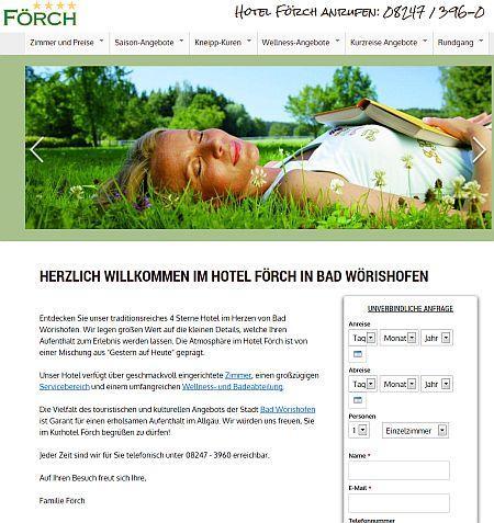 Kurhotel Internet-Seite überarbeitet