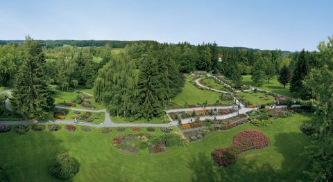 Kurpark aus Vogelperspektive