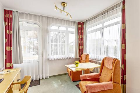 Nebenhaus Doppelzimmer mit Balkon